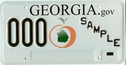 Georgia_2007_license_plate