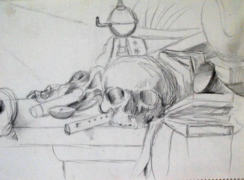 Study drawing from National Gallery in London