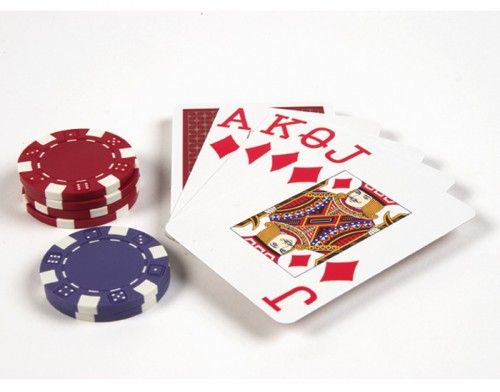 Royal Flush Poker cards & Chips