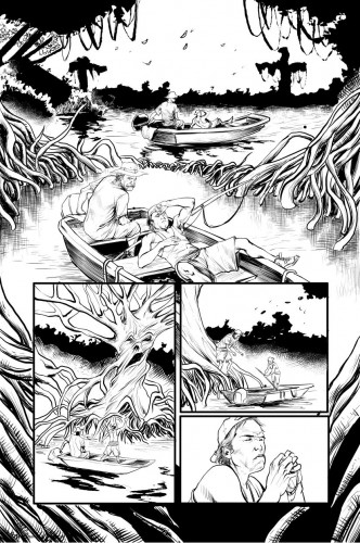 "A page of Sean Hill's work from Zenescope Entertainment's ""Dark Shaman"""