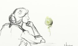 Idle Moment Sketch by Amanda Makepeace
