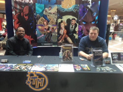 Robert and I holding down the table at Atlanta Expo