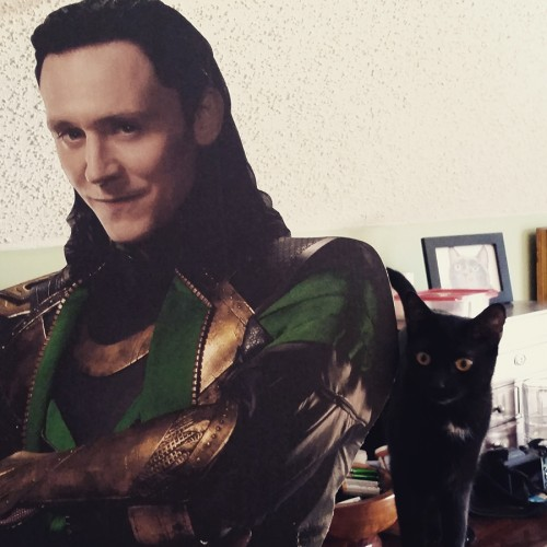 Drusilla and (Cardboard) Loki