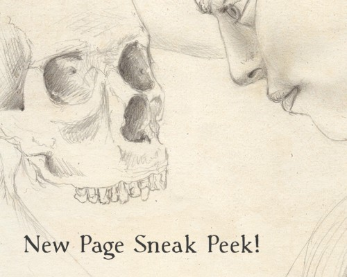 Peek at a new drawing you'll see in my sketchbook