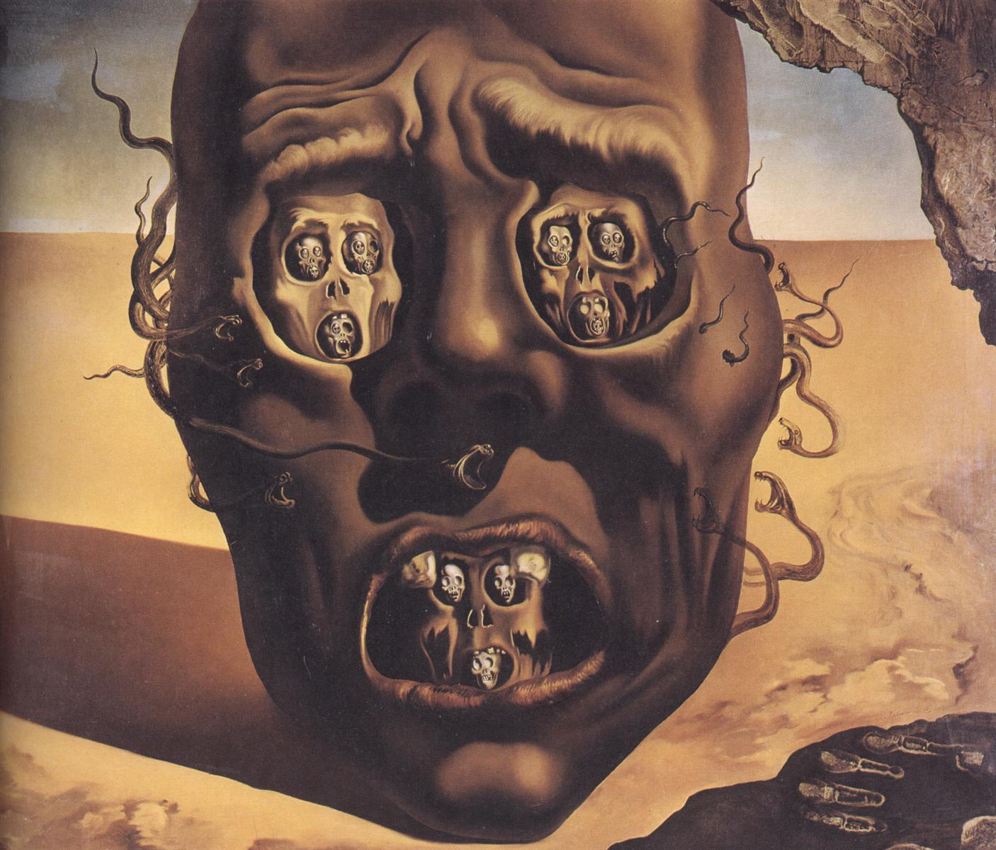 The Face of War by Salvador Dali