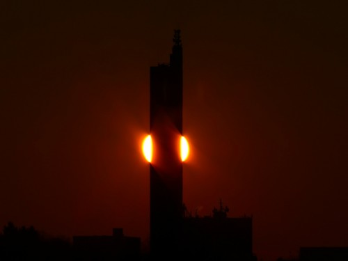 sun set - tower