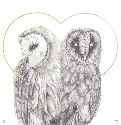 Spirit Owls by Amanda Makepeace