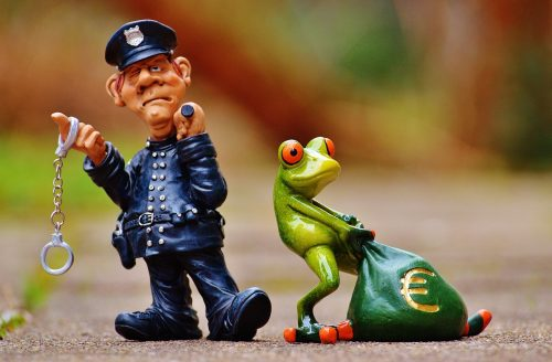 frog and cop