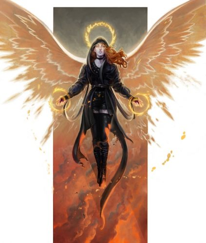 Descended Draft, Seraphim Banner by Rodrigo Vega